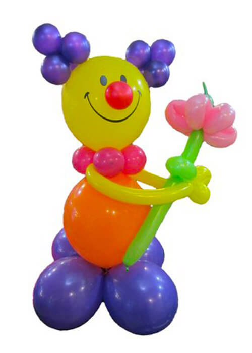 Клоун с цветком