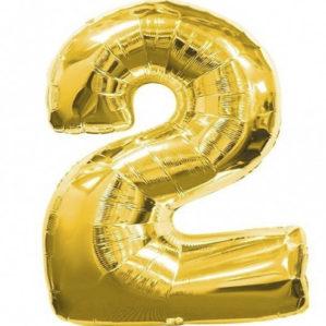 """Золотая цифра """"2"""""""