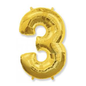 """Золотая цифра """"3"""""""