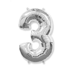 "Серебряная цифра ""3"""