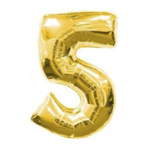 """Золотая цифра """"5"""""""
