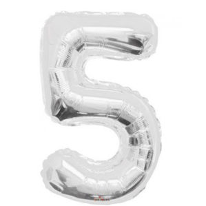 "Серебряная цифра ""5"""
