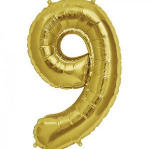 """Золотая цифра """"9"""""""
